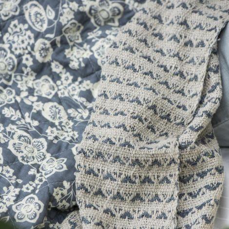 IB LAURSEN Quilt Blau mit Blumen