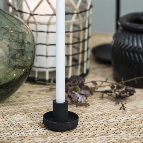 IB LAURSEN Kerzenhalter für schmale Kerzen Schwarz