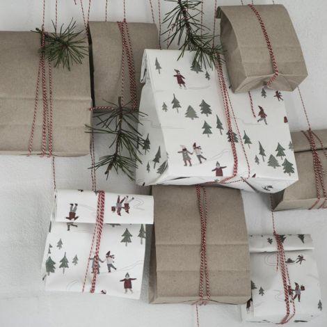 IB LAURSEN Geschenktüte länglich Christmas Fairytale 10 Stück