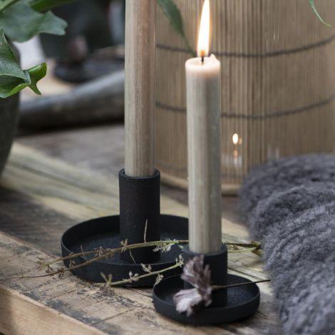 IB LAURSEN Kerzenhalter für Stabkerzen Schwarz 20 cm