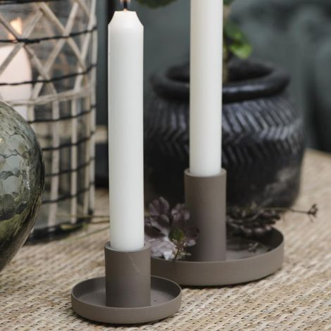 IB LAURSEN Kerzenhalter für Stabkerzen Milky Brown 20 cm