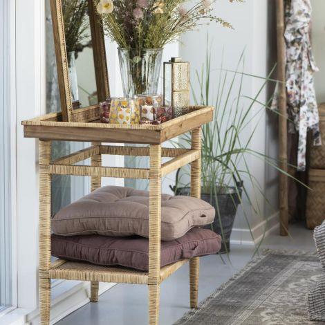IB LAURSEN Sitzkissen Soft Aubergine 45 x 45 cm