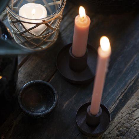IB LAURSEN Kerzenhalter für schmale Kerze braun