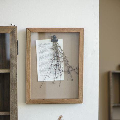 IB LAURSEN Displayrahmen mit Clips Frontglas und Holzrahmen UNIKA
