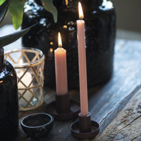 IB LAURSEN Kerzenhalter für Stabkerze braun