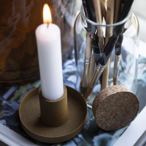 IB LAURSEN Kerzenhalter für Stabkerze mustard