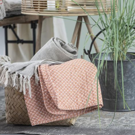 IB LAURSEN Tagesdecke Quilt Sunset/weißes Muster