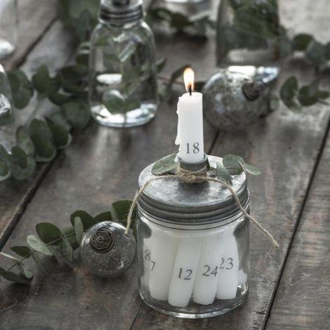 IB LAURSEN Kerzenhalter für Stabkerze mit Metalldeckel