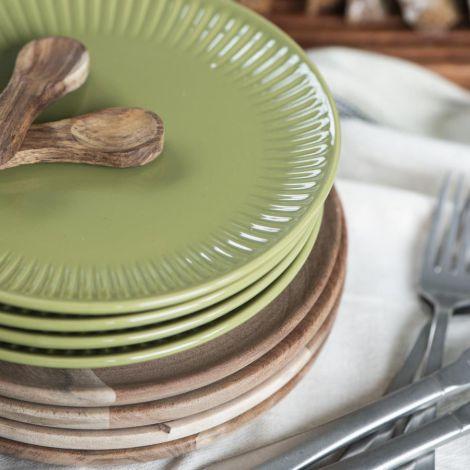 IB LAURSEN Frühstücksteller Mynte Herbal Green