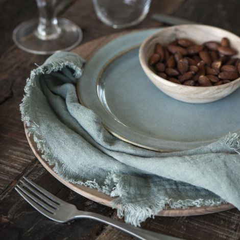 IB LAURSEN Frühstücksteller Light Blue Dunes