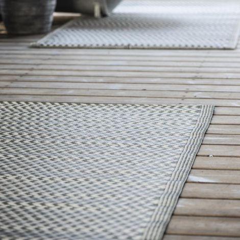 IB LAURSEN Teppich Gemustert Grau 90 x 180 cm