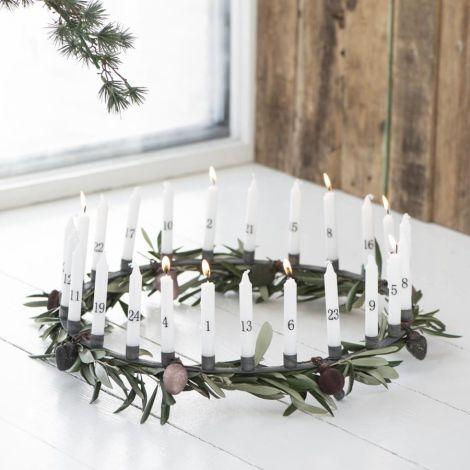 IB LAURSEN Adventkerzenhalter für 24 schmale Kerzen