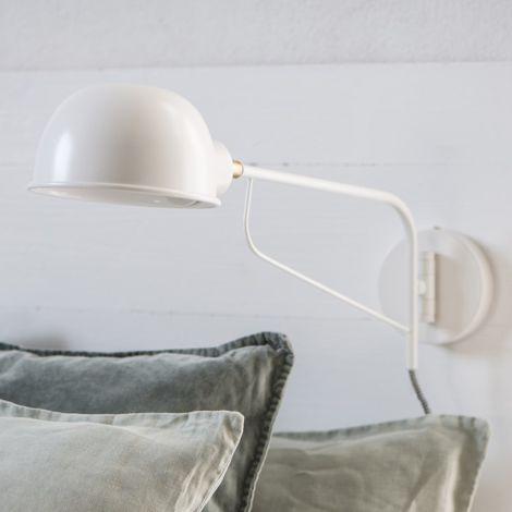 IB LAURSEN Wandlampe Rund Weiß