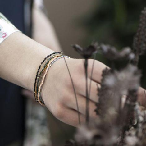 IB LAURSEN Armband Glas- und Metallperlen auf Gummiband 6er-Set