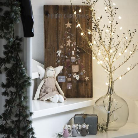 IB LAURSEN Holzschild Merry Christmas mit Tannenbaum