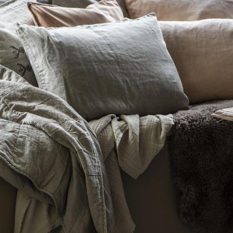 IB LAURSEN Tagesdecke Vintage Quilt Linen