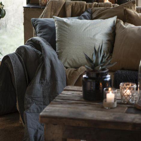 IB LAURSEN Tagesdecke Vintage Quilt Thunder Grey
