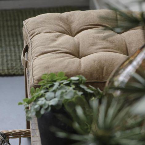 IB LAURSEN Sitzkissen Braun 45 x 45