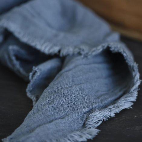 IB LAURSEN Stoffserviette Doppelt Gewebt Historical Blue