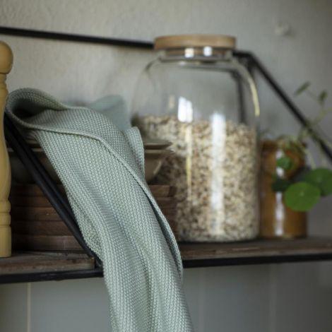 IB LAURSEN Handtuch Mynte Green mist gestrickt