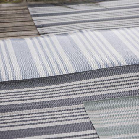 IB LAURSEN Teppich Gestreift Recyclingkunststoff