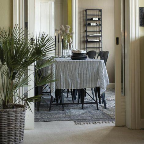 IB LAURSEN Tischdecke Weiß mit Schwarzen Streifen 150 x 250