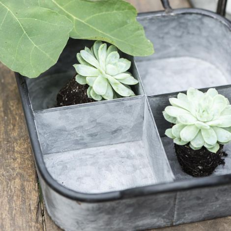 IB LAURSEN Tablett quadratisch 4 Fächer Urban Garden