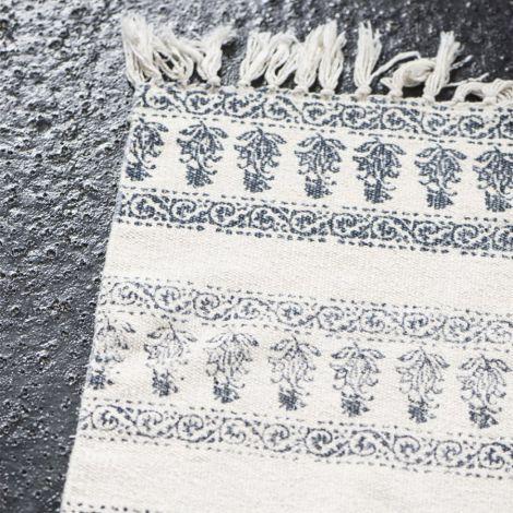 IB LAURSEN Teppich-Läufer Creme/Blau •