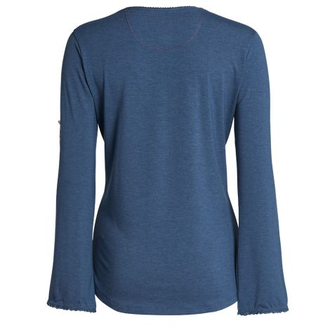 PIP Studio Langarm-Shirt Tromp Melange/Melee Dark Blue