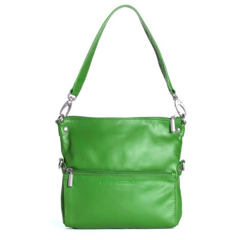 Sticks and Stones Ledertasche Valencia Palm Green