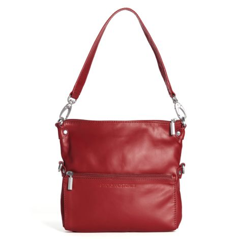 Sticks and Stones Ledertasche Valencia Red •