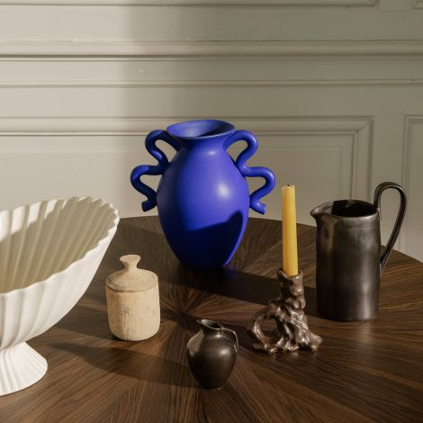 ferm LIVING Vase Verso Bright blue