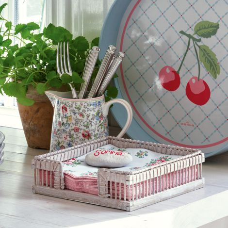 GreenGate Korb für Servietten Off White