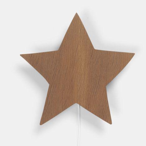 ferm LIVING Wandlampe Star Smoked Oak •