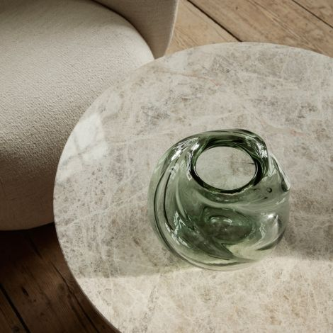 ferm LIVING Vase Water Swirl Round Recycled clear