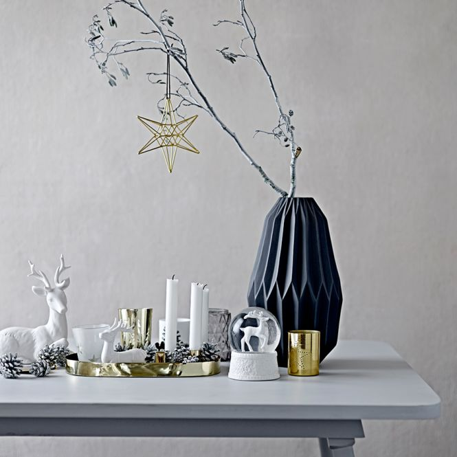 bloomingville gro e vase fluted matte black online kaufen. Black Bedroom Furniture Sets. Home Design Ideas