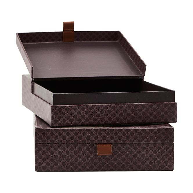 house doctor aufbewahrungs box arches lila m 2er set online kaufen emil paula. Black Bedroom Furniture Sets. Home Design Ideas