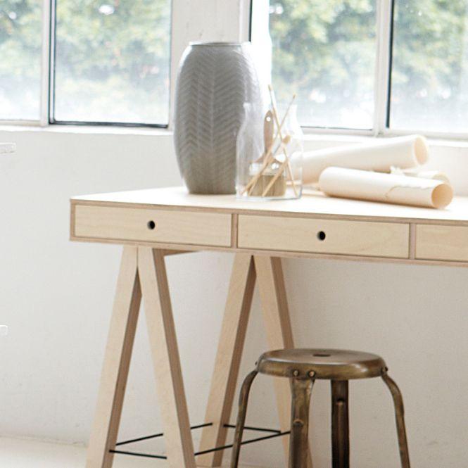 house doctor schreibtisch mix birke online kaufen emil paula. Black Bedroom Furniture Sets. Home Design Ideas