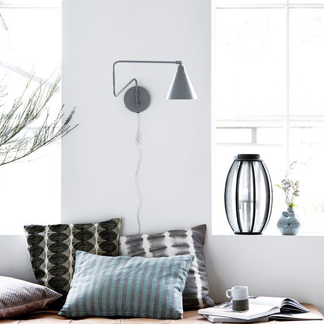 house doctor wandlampe game schwarz langer arm online. Black Bedroom Furniture Sets. Home Design Ideas