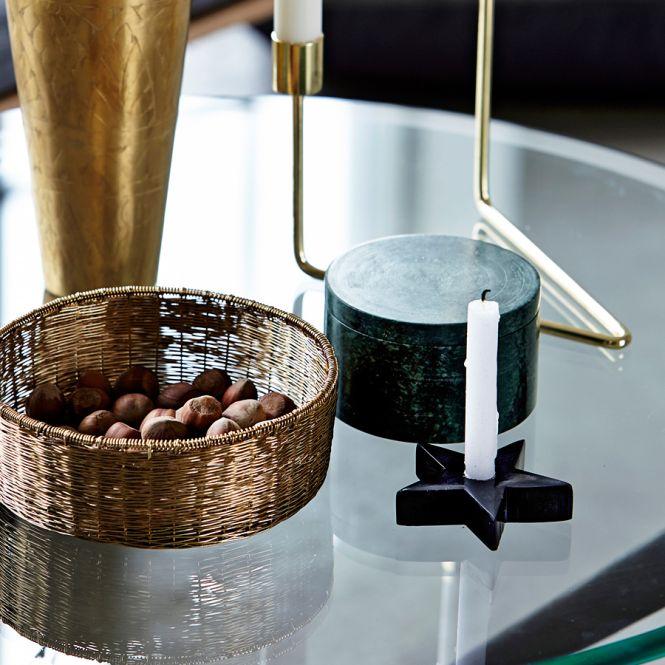 house doctor kerzenst nder marmor stern grau online kaufen. Black Bedroom Furniture Sets. Home Design Ideas