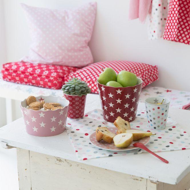 krasilnikoff sch ssel happy stars red l online kaufen emil paula. Black Bedroom Furniture Sets. Home Design Ideas