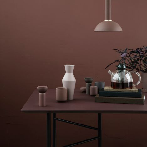 ferm LIVING Tischbeine Mingle W48 Black 2er-Set Klein