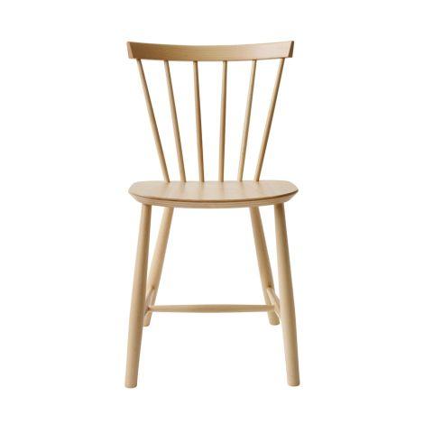 FDB Møbler J46 Stuhl Naturlack/Weiß pigmentiert