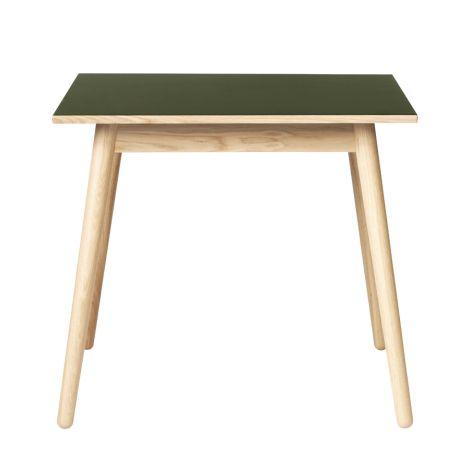 FDB Møbler C35A Quadratischer Tisch Natur/Oliv Linoleum Oliv