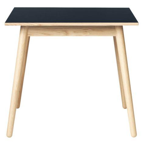 FDB Møbler C35A Quadratischer Tisch Natur/Blau Linoleum Rauchblau