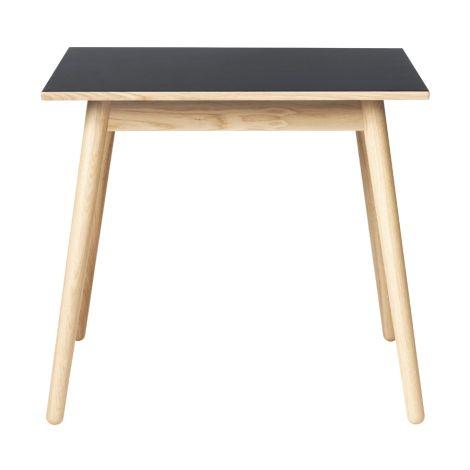 FDB Møbler C35A Quadratischer Tisch Natur/Dunkelgrau Linoleum Zinn