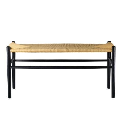 FDB Møbler J163 Piano bench Klavierbank Schwarz/Natur