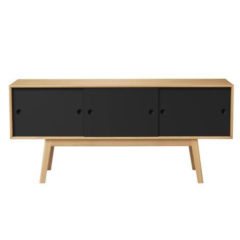 FDB Møbler A85 - Butler Sideboard Schwarz/Natur