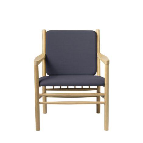 FDB Møbler J147 Sessel Natur/Dunkelblau
