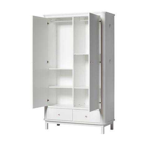 oliver furniture wood kleiderschrank 2 t rig wei online. Black Bedroom Furniture Sets. Home Design Ideas